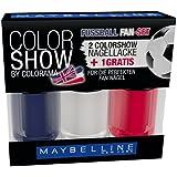Maybelline New York Color Show Fussball Fan-Set England Frankreich, 1er Pack (1 x 3 Stück)
