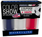 Maybelline New York Color Show Fussball Fan-Set England Frankreich, 1er Pack (1 x 3 Stück)