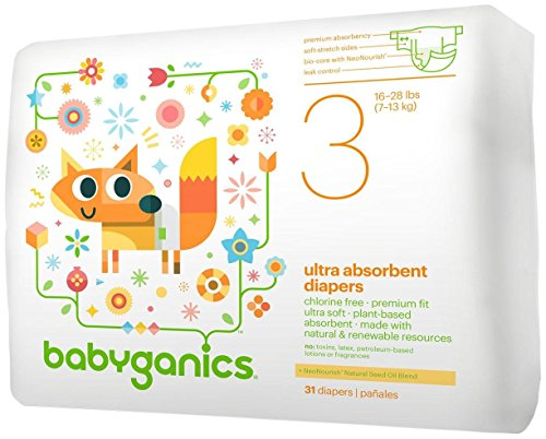 Babyganics Diapers-Size 3-31 Count