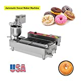 Zinnor Automatic Donut Making Machine,Automatic Donut Maker/Auto Donuts Frying Machine/Auto Molding,Auto Frying,Auto Turning,Auto Collecting (US Warehouse) (Color: Silver, Tamaño: 43.3'' x 21.65'' x 25.59''(110x55x65cm))