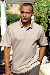 Pima Tonal Stripe Polo (Big and Tall and Regular Sizes)