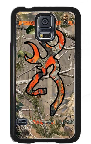 Country Orange and Camo Buck Samsung Galaxy S5 S V Snap-on Case