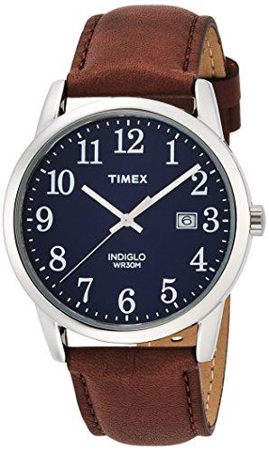Timex TW2P75900 Orologio da Polso, Quadrante Analogico da Uomo, Cinturino in Pelle, Colore Marrone