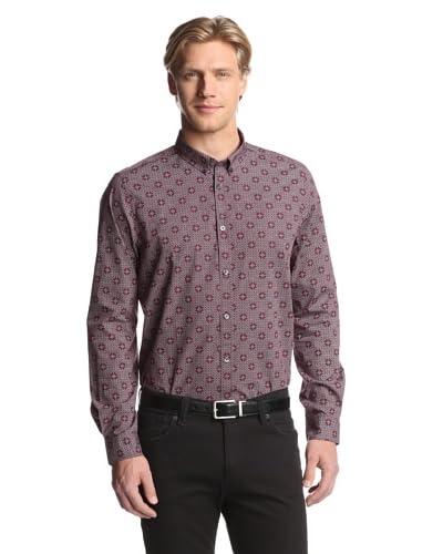 Ben Sherman Men's Long Sleeve Shirt Printed Shirt