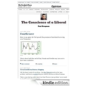 Paul Krugman: The Conscience of a Liberal by The New York Times Co.