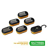 EverBrite 6-Pack 3AAA 27 LED Compact Work-light Magnetic W/hook Batteries Included