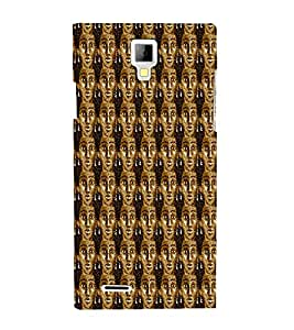 Brownish Women Pattern 3D Hard Polycarbonate Designer Back Case Cover for Micromax Canvas Xpress A99