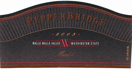 2003 Pepper Bridge Walla Walla Valley Estate Merlot (Library Wine, Limited Availability) 750 Ml