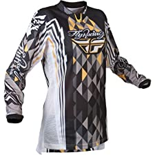 2012 Fly Racing Women's Kinetic Jersey LARGE BLACK/GREY