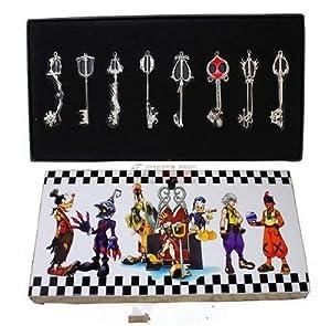 E-busienss Japanese Anime Kingdom Hearts Ii 8 KEY Blade Sora Necklace Pendant Cosplay