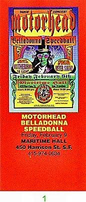 Motorhead 1990s Ticket
