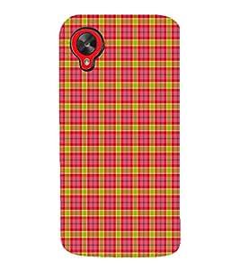 EPICCASE red squares Mobile Back Case Cover For LG Google Nexus 5 (Designer Case)