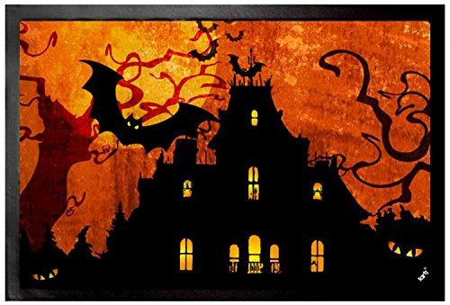 Halloween - Casa Stregata E Luna Di Sangue Zerbino (60 x 40cm)