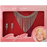 ALL NEW! Marilyn Monroe LICENSED Rhinestone Costume Jewelry Set (clip on earrings)