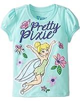 Disney Little Girls' Tinkerbell Pretty Pixie Girls T-Shirt