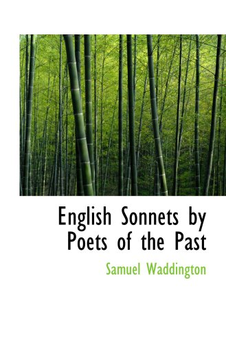 English Sonnets by Poets of the Past
