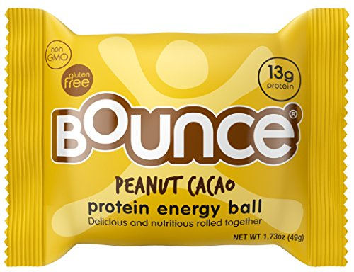 Bounce Natural Energy Ball, Gluten Free, Peanut Cacao Energy Ball, 1.73 Ounce, 12 Count (Protein And Energy compare prices)
