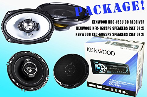 Package! Kenwood Kdc-335U Cd-Receiver + Kfc-1695Ps Speakers + Kfc-6965Ps Speakers