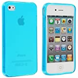 Frost Light Blue TPU Rubber Skin Case Cover for Apple iPhone 4 4G 4S