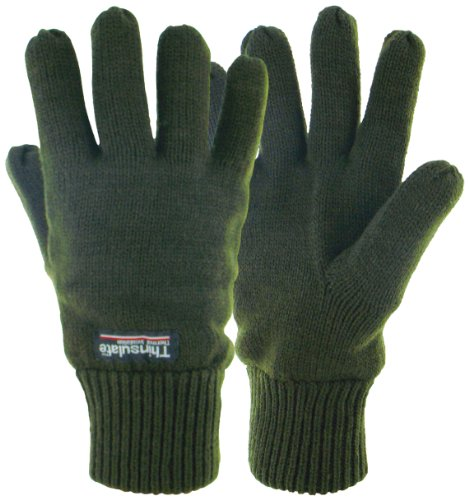 Highlander - Guanti imbottiti termici Drayton, verde (verde oliva), small