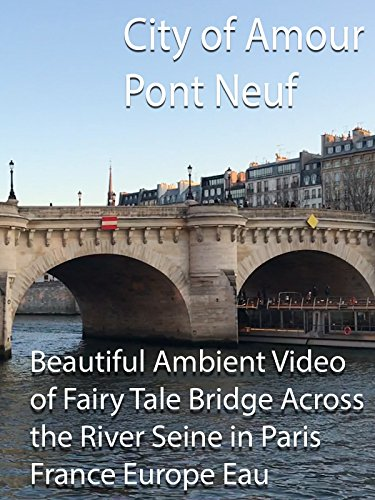 City of Amour Pont Neuf Beautiful Ambient Video of Fairy Tale Bridge Across the River Seine in Paris France Eau