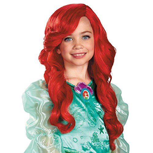 Disguise Disney Princess The Little Mermaid Ariel Child Wig (Red Mermaid Wig compare prices)