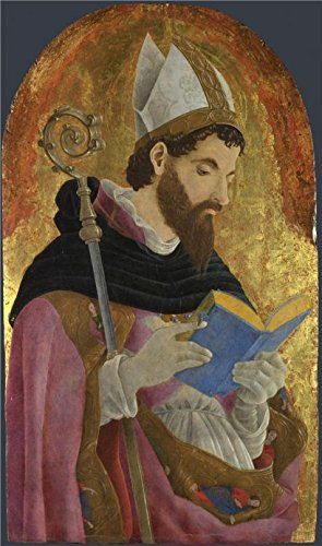 The Perfect Effect Canvas Of Oil Painting 'Marco Zoppo-A Bishop Saint, Perhaps Saint Augustine,1468' ,size: 16x27 Inch / 41x69 Cm ,this Reproductions Art Decorative Prints On Canvas Is Fit For Gym Gallery Art And Home Decor And Gifts