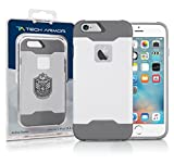 Tech Armor Active Sport Series Case for Apple iPhone 6 Plus/6s Plus (White-Cool Grey)