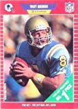 1989 Pro Set Troy Aikman Rookie Football Card #490 - Shipped In Protective Display Case!