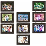 Art Street Hanging Photo Frame Chain Drop - Set Of 9