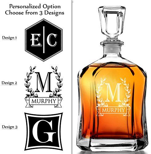 Bormioli Rocco Capitol Decanter 23.75 Oz - Engraved Monogram Personalized (Monogram Personalized Gifts compare prices)