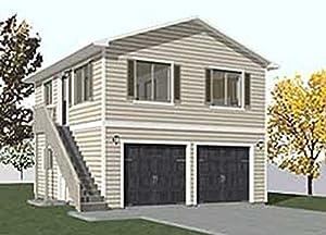 Two Story Garage Apartment Plans Garage Plans Two Car Two Story Garage With Apartment Outside Stairs