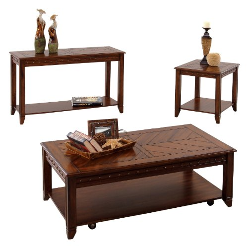 Cheap Progressive Furniture Sofa/Console Table – Cherry/Rubberwood (P354-05)