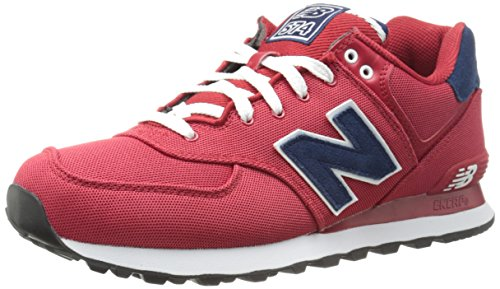 New Balance NBML574POR Sneaker, Canvas Red, 45