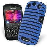 Celicious Sky Blue Hybrid Vent Gel Combo Case for BlackBerry Curve 9360