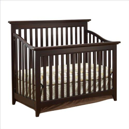 Sorelle Shaker Crib In Espresso front-690572