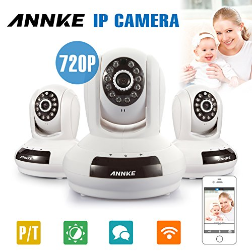 Buy Annke® 3-Pack HD 1280 x 720P Baby/Pets Monitor Wireless WIFI Pan/Tilt IP Camera for Home Securi...