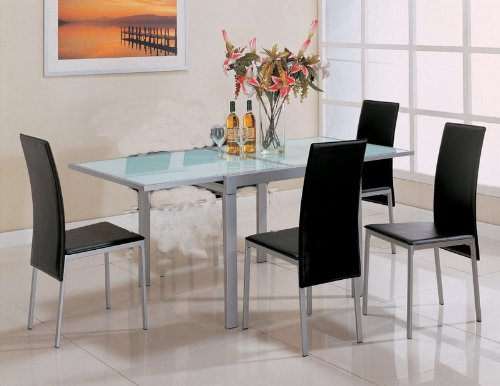 Cheap Pearl Silver Metal Finish Glass Top 5 Piece Dining Set (table & 4 chairs) – Coaster Co. (VF_AZ00-45952×30686)