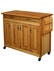 Catskill Craftsmen Butcher Block Island with Raised Panel Doors by Catskill+Craftsmen