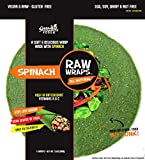 Raw Wraps Spinach- Gluten Free. Vegan, Paleo, Raw