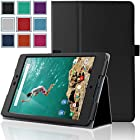Google Nexus 9 Case - HOTCOOL Ultra Slim Lightweight [New PU-Leather] Case For 2014 Edition HTC Google Nexus 8.9-Inch Tablet(With Smart Cover Auto Wake/Sleep), Black