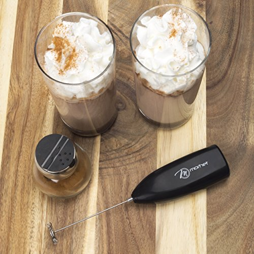 Milk Frothers - Electric Handheld Milk Frother - Stainless Steel Whisker- Ergonomic Wand- Compact/Portable Design- Easy to Clean- Best Hand Held Foamer for Coffee, Latte, Cappuccino and More