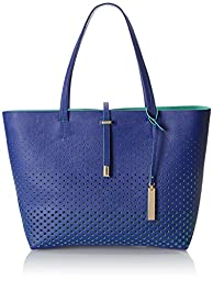 Vince Camuto Leila Travel Tote, Lapis Blue/Grass Green, One Size