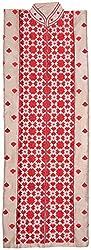 The Phulkari Women's Silk Unstitched Kurti Material (Red)