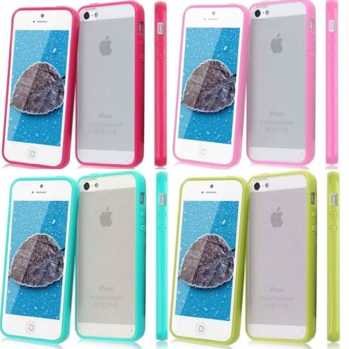 Vandot Mobile Phone Accessory 4In1 For Apple Iphone4 4S Smartphone 4X Hybrid Protective Hard Matt Back Case Cover Soft Silicone Tpu Skin Shell Bumper- Green Blue Pink Rose
