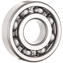 NSK 6300 Series Deep Groove Ball Bearing, Single Row, Open, Pressed Steel Cage, C3 Clearance, Metric