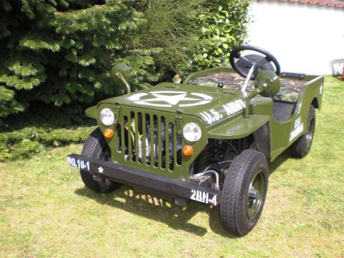 willys jeep kinderauto mit 5 5 ps 70cc starkem. Black Bedroom Furniture Sets. Home Design Ideas
