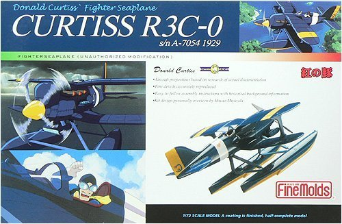 Curtiss R3C-O Fighter Seaplane (Painted, Half-Complete Model) 1/72