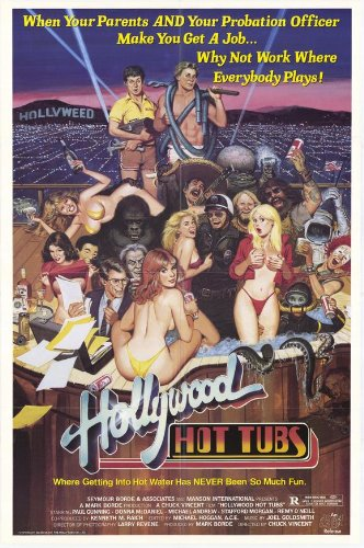 Hollywood Hot Tubs Movie Poster (27 x 40 Inches - 69cm x 102cm) (1985) -(Donna McDaniel)(Michael Andrew)(Katt Shea)(Paul Gunning)(Edy Williams)(Jewel Shepard)
