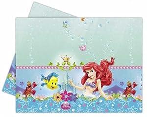 Disney Princess - Mantel de plástico La Sirenita 180 x 120cm